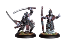 Legion Everblight Swordsmen Abbott & Champion (2)
